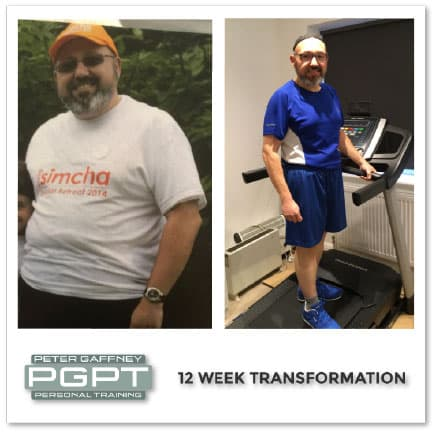 Mobile personal trainer client body transformation.